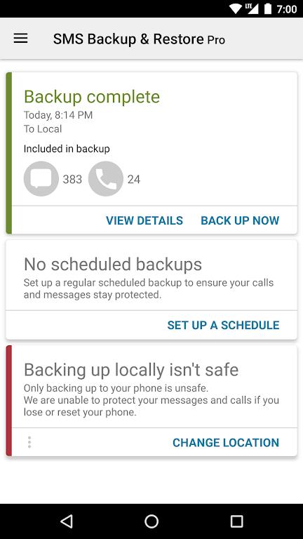 SMS Backup & Restore Pro  poster 1