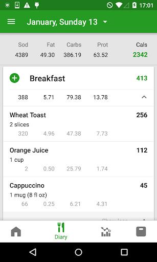 Calorie Counter by FatSecret android2mod screenshots 2