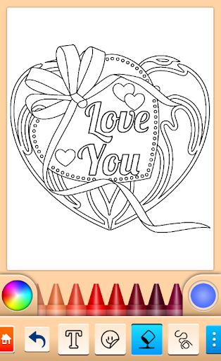 Valentines love coloring book  screenshots 9