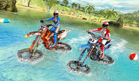 Water Surfer Racing In Moto