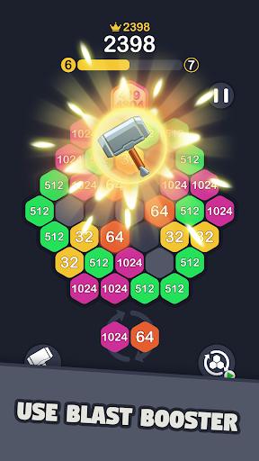 2048 Hexagon Puzzle  screenshots 4