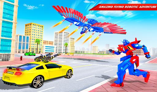Flying Police Eagle Bike Robot Hero: Robot Games 30 Screenshots 11
