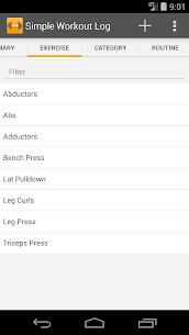 Free Simple Workout Log PRO Key 2