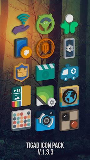 Tigad Pro Icon Pack apktram screenshots 1