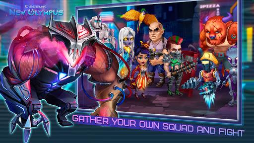 Cyberpunk: New Olympus Idle RPG 5v5 AFK battle apktram screenshots 1