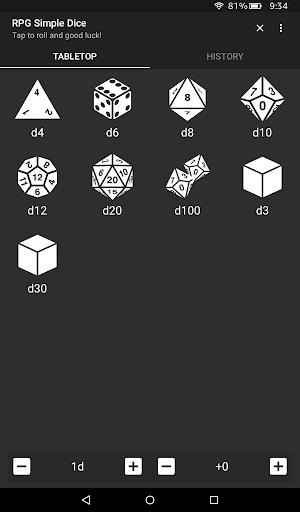 RPG Simple Dice  screenshots 8