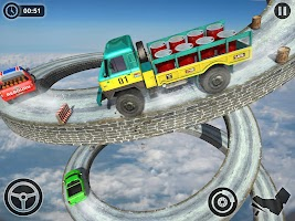 Cargo Truck Driver Games: Impossible Driving Track