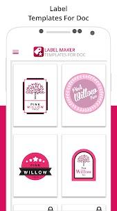 Label Maker & Creator Pro Apk: Best Label Maker Templates (Pro Features Unlocked) 8