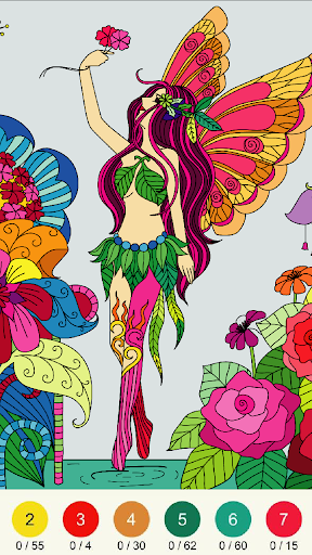 Wonder Color - Color by Number Free Coloring Book 53 screenshots 15