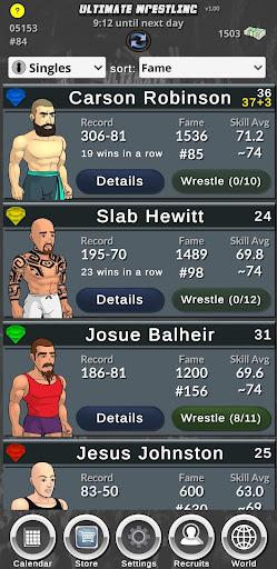 Ultimate Wrestling Manager APK MOD (Astuce) screenshots 1