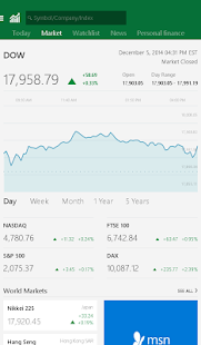 MSN Money- Stock Quotes & News Screenshot