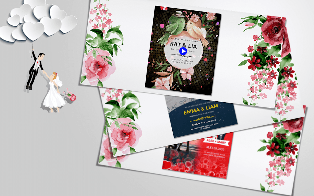 Wedding Card Design & Photo Video Maker With Music  poster 9