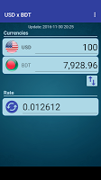 US Dollar to Bangladeshi Taka
