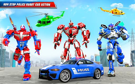 US Police Car Real Robot Transform: Robot Car Game android2mod screenshots 10