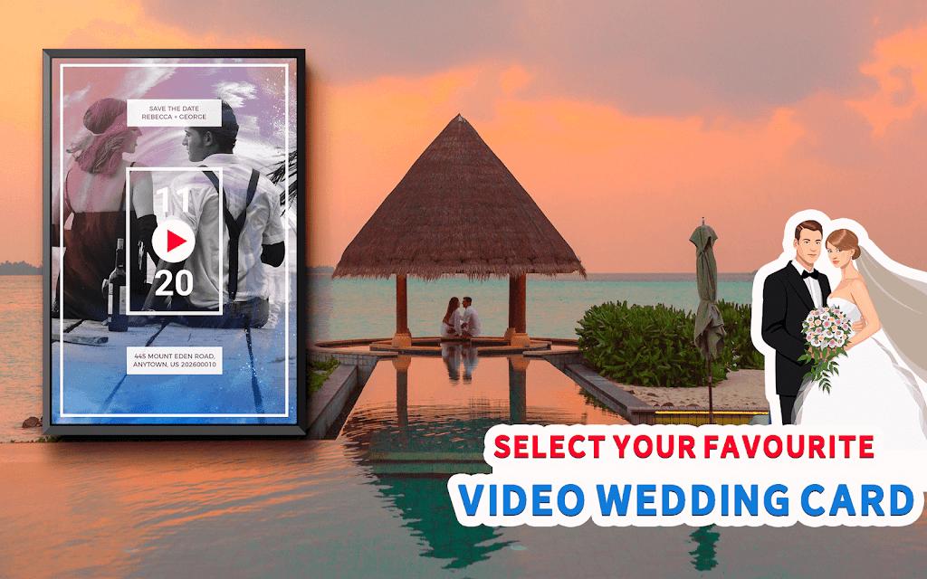 Wedding Card Design & Photo Video Maker With Music  poster 10
