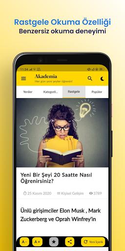Akademia - Her Gu00fcn Yeni u015eeyler u00d6u011frenin! android2mod screenshots 7