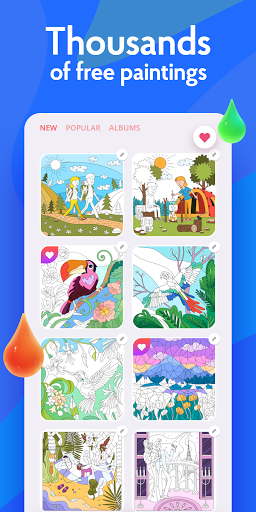 Painting games: Adult Coloring Books, Drawings screenshots 4