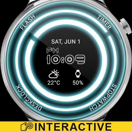 Glowing ElecTRONic Watch Face Icon