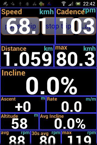 IpBike ANT+u2122 Bike Computer android2mod screenshots 3