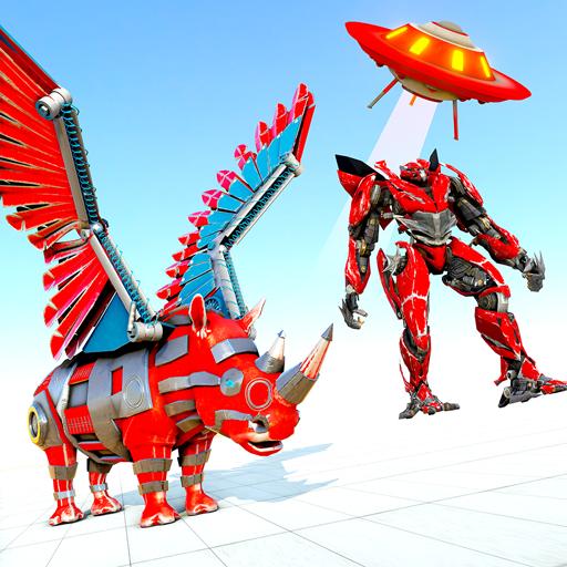 Wild Rhino Transform Bike Robot Wars: Robot Game