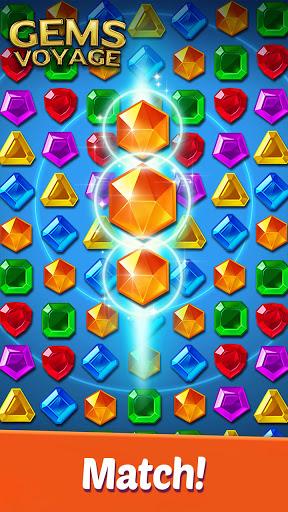 Gems Voyage - Match 3 & Jewel Blast 1.0.20 screenshots 2