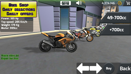 Motorbike  Online Drag Racing - Wheelie racing 3D screenshots 19