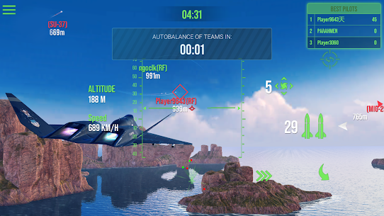 Modern Warplanes: Sky fighters – Mod, Unlimited Rockets | APK Download 6