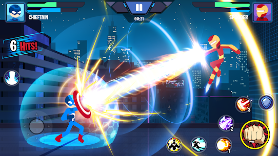 Stickman Heroes Fight – Super Stick Warriors Mod Apk (No Skills/Ultimate) 9