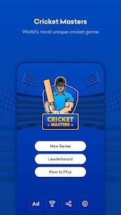 Cricket Masters- Captain vs AI Apkfinish screenshots 2