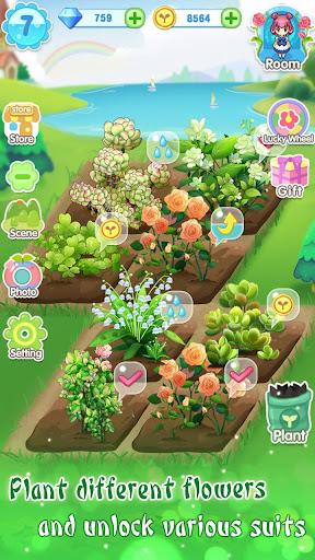 ud83dudc57ud83dudc52Garden & Dressup - Flower Princess Fairytale  Screenshots 4