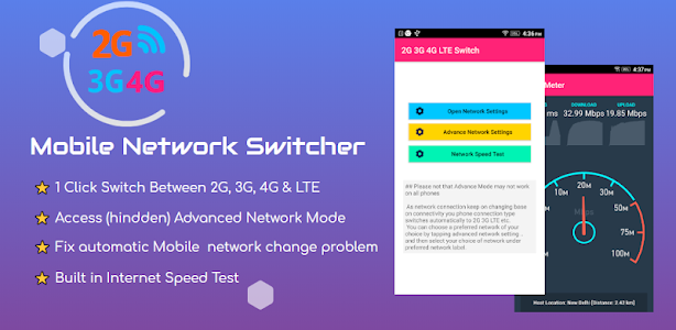 2G 3G 4G LTE Switcher  - Mobile Network Switcher 2G3G.4.2