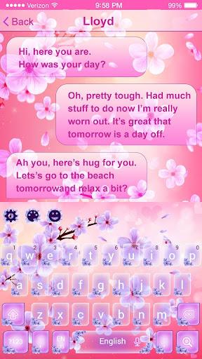2019 Beautiful SMS Keyboard Themes 10001003 Screenshots 4