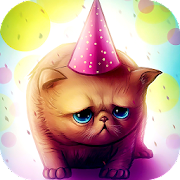 Birthday Cat : Cute Live wallpaper for Kids play