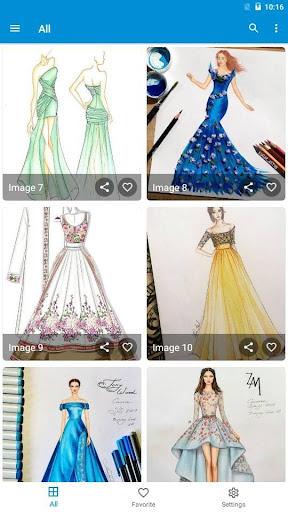 Creative Fashion Design Flat Sketch Ideas  Screenshots 7