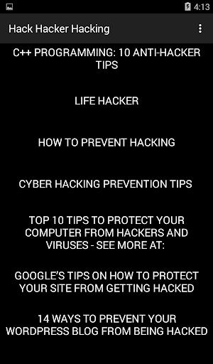 Hack Hacker Hacking 3.1 Screenshots 2