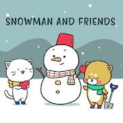 Cute Wallpaper Snowman and Friends Theme