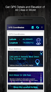 GPS Coordinates and and Elevation