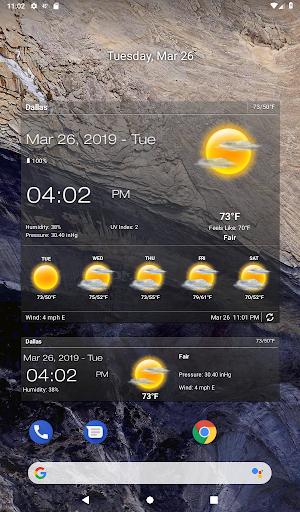 Weather & Clock Widget for Android screenshots 12