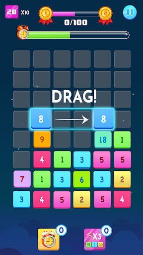 Number Blocks - Merge Puzzle modiapk screenshots 1