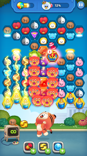 LINE HELLO BT21- Cute bubble-shooting puzzle game! 2.2.2 screenshots 3