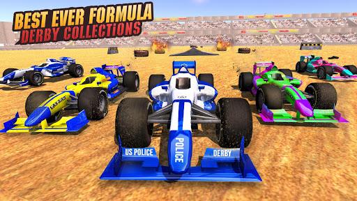Police Formula Car Derby Demolition Crash Stunts  screenshots 3