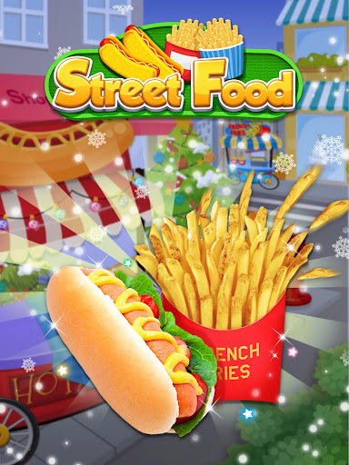 Street Food  - Make Hot Dog & French Fries screenshots 12