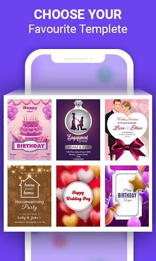 Invitation Card Maker & Ecards Invites modiapk screenshots 1