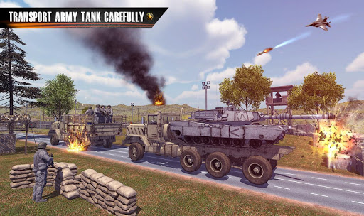 army truck driving truck simulator: driving games screenshot 1