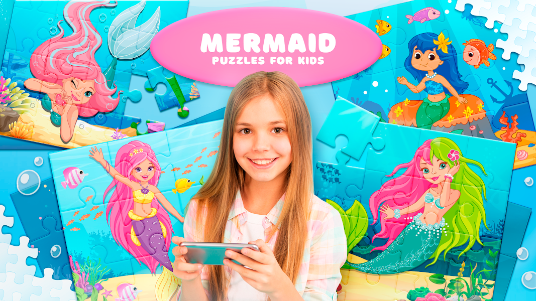 Mermaid Puzzles for Kids