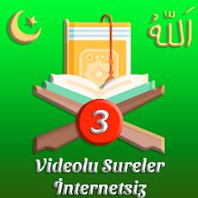 Videolu Sureler Üç İnternetsiz APK
