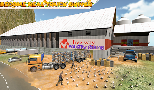 Poultry Farming  Transport Truck Driver 20 Screenshot