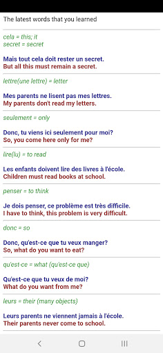 Learn French from scratch android2mod screenshots 5