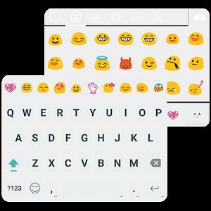 Material White Emoji Keybaord