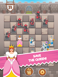 Knight Saves Queen - Brain Puzzle Chess Puzzles
